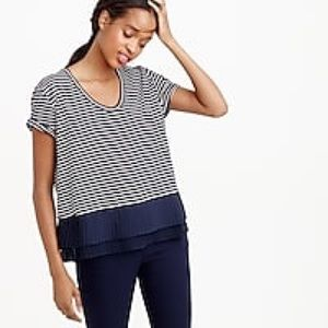 J. Crew Chiffon Hem Striped T-Shirt